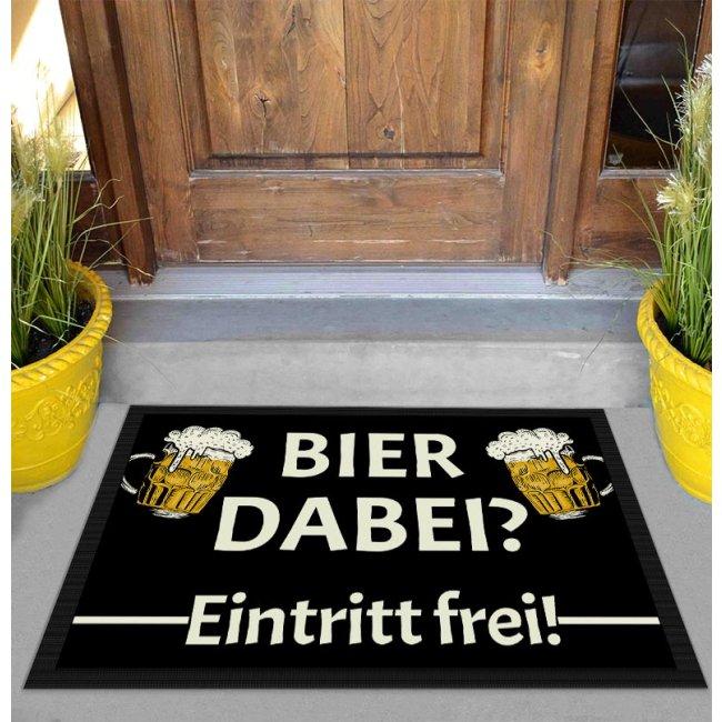 Fußmatte mit Spruch - Bier dabei Eintritt frei! -