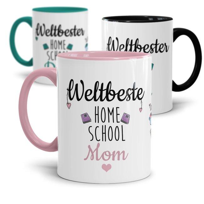Tassen mit Spruch - Weltbeste/ Weltbester Home School Mom und Dad