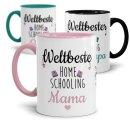 Tassen mit Spruch - Weltbeste Homeschooling Helfer in der...