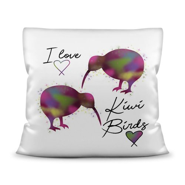 Kiwi Kissen mit Spruch - I love Kiwi Birds