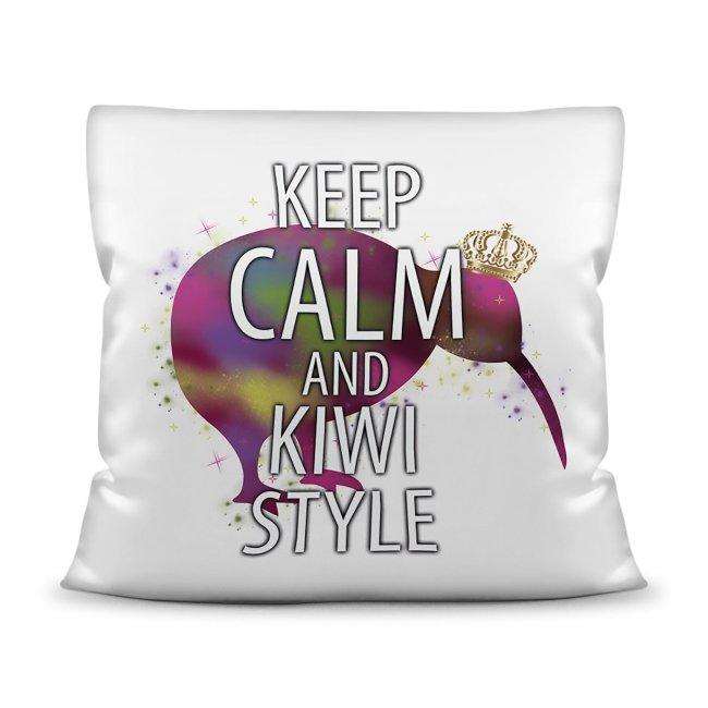 Kiwi Kissen mit Spruch - Keep Calm And Kiwi Style