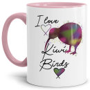 Tasse mit Spruch - Kiwi Tasse - I love Kiwi Birds