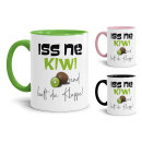 Tasse mit Spruch - Kiwi Tasse - Iss ne Kiwi & halt...