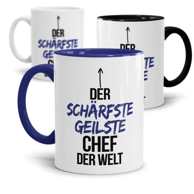 Tasse mit Spruch - Lustige Chef Tasse - Der schärfste geilste Chef der Welt
