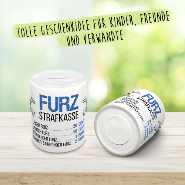 Spardose - Furzstraf-Kasse