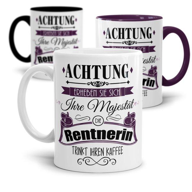 Tasse zum Ruhestand - Ihre Majestät die Rentnerin