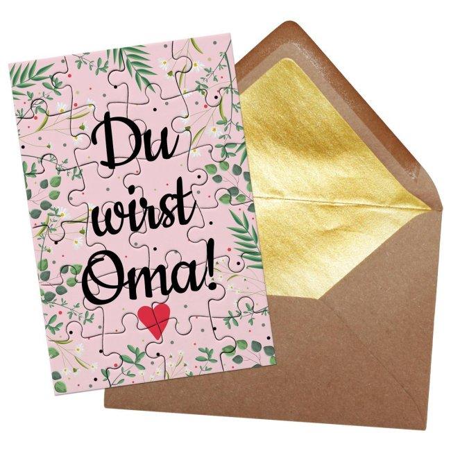 Puzzle - Du wirst Oma - 24 Teile inkl. Umschlag