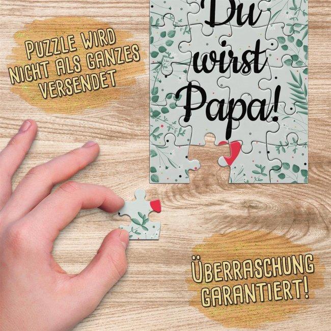 Puzzle für Männer - Endlich schwanger - Du wirst - 24 Teile inkl. Umschlag