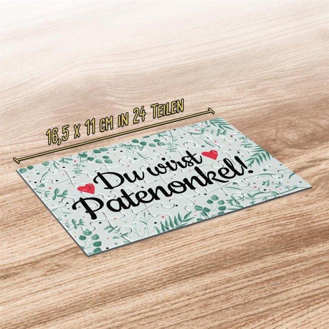 Puzzle - Du wirst Patenonkel - 24 Teile inkl. Umschlag