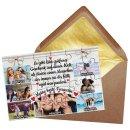 Foto-Puzzle mit sieben Fotos für die beste Freundin...