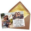 Foto-Puzzle mit zwei Fotos und Spruch - Ich liebe dich -...