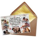 Foto-Puzzle mit sieben Fotos und Spruch - Mein Schatz -...