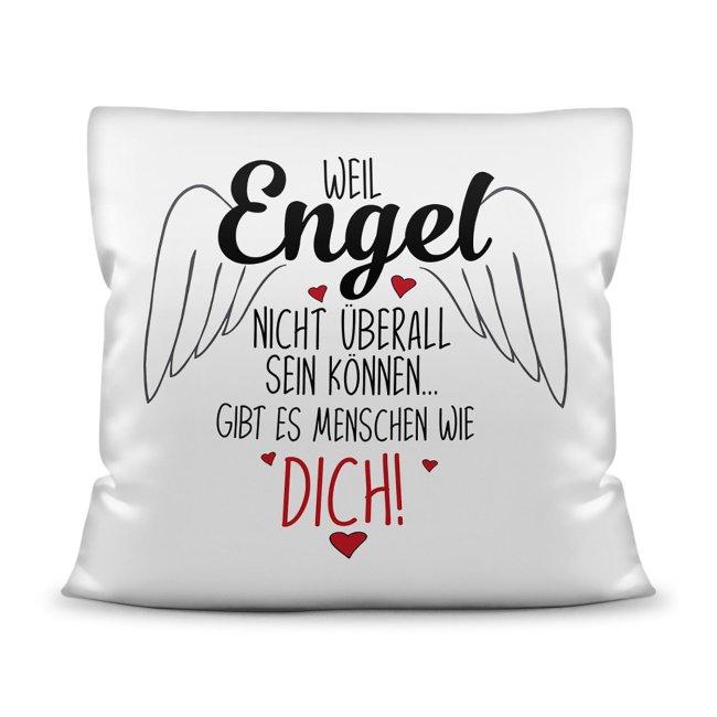 Kissen - Engel nicht überall, deshalb Menschen wie dich!