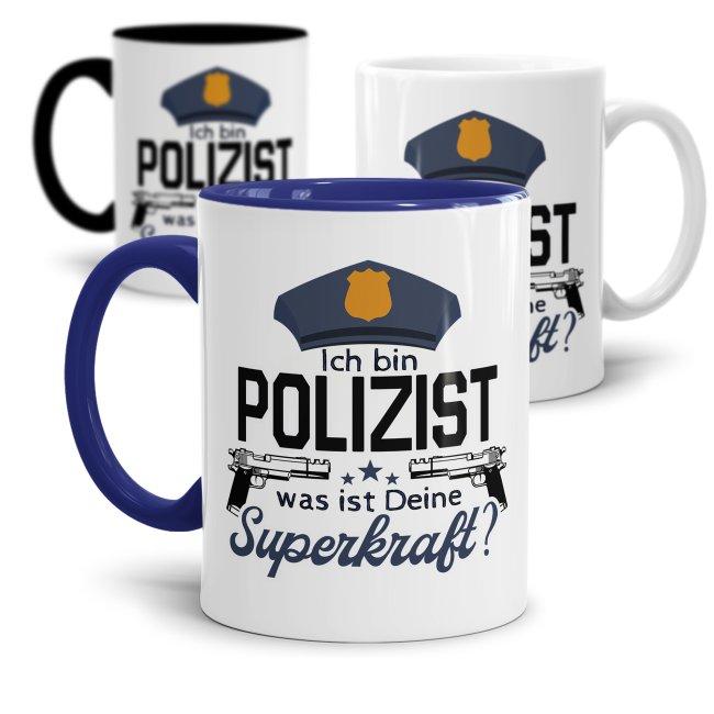 Polizei Tasse - Ich bin Polizist, was ist deine Superkraft?