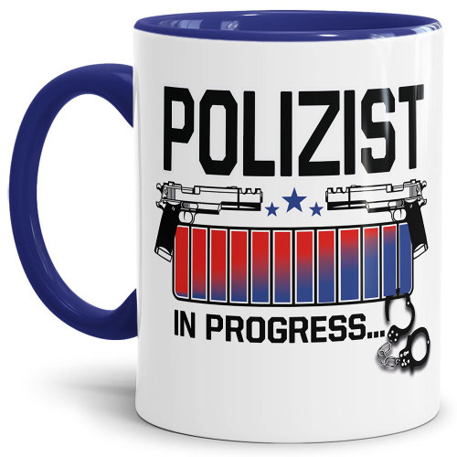 Polizei Tasse - Polizist in Progress