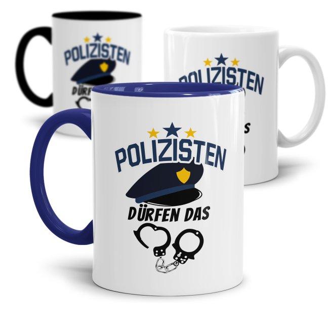 Polizei Tasse - Polizisten dürfen das