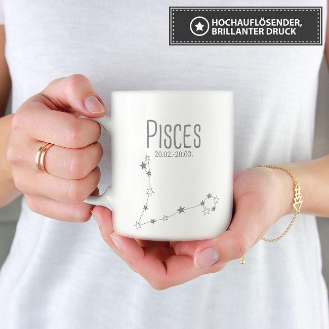 Sternzeichen Tassen - mit Datum & Symbolen