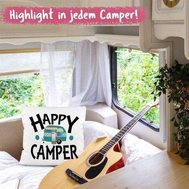 Fröhliche Kissen für Campingfreunde
