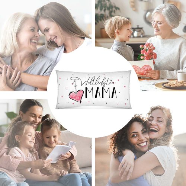 XXL-Kissen mit Spruch - Weltliebste Lieblingsmensch für Frauen