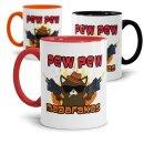 Tasse mit Spruch - Pew Pew Madafakas - Katze