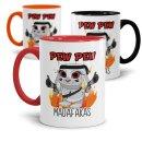 Tasse mit Spruch - Pew Pew Madafakas - Hase