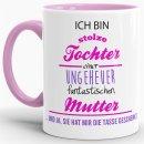 Tasse Stolze Tochter - Innen & Henkel Rosa