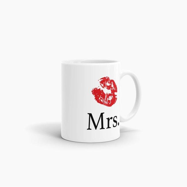 Tasse für Sie Mrs. mit Kussmund