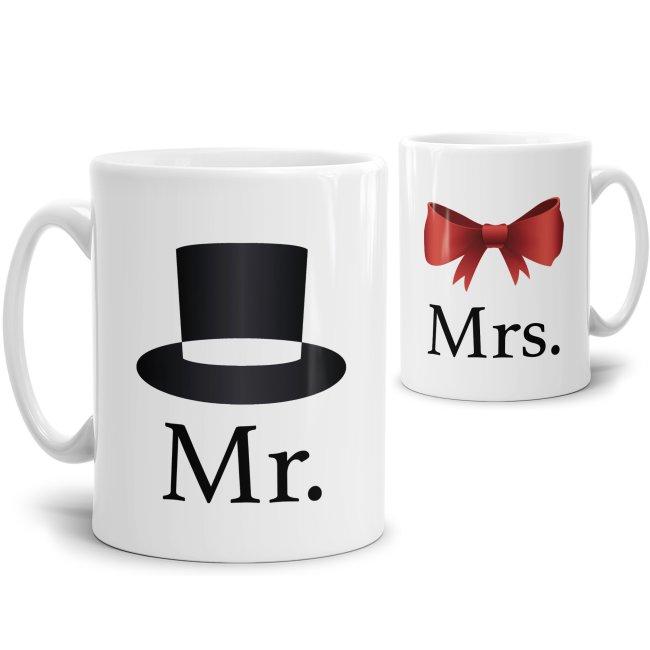 Tassen-Set Mr. und Mrs.