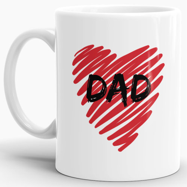 Tasse Dad Herz