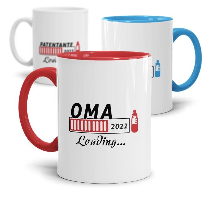 Tasse Loading - Du wirst Oma, Opa, Papa, Onkel