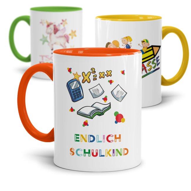Tasse zur Einschulung - zur Einschulung -verschiedene Motive-