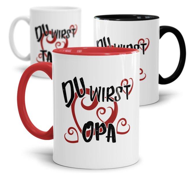 Tasse Du wirst Mama / Papa / Onkel / Tante / Oma / Opa