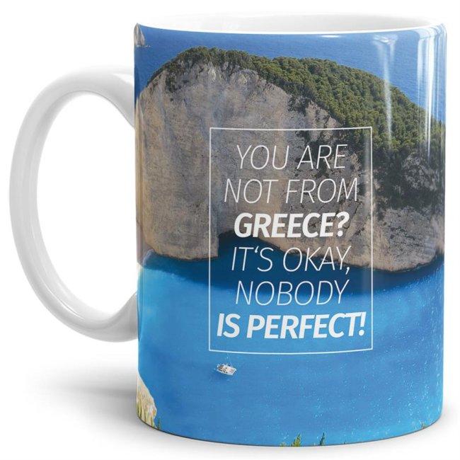 Du bist Grieche - Tasse - Not from Greece?