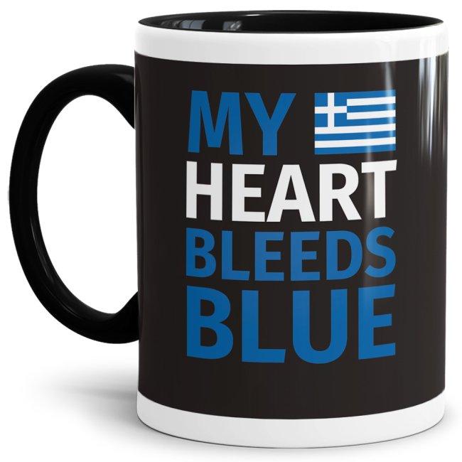 Du bist Grieche - Tasse - My Heart Bleeds Blue