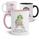 Tasse mit Tier- Prinzessinnen und verschiedenen...