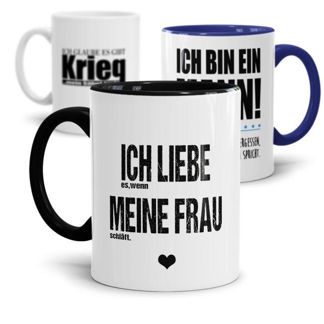 Tassen für echte Männer - verschiedene Sprüche -