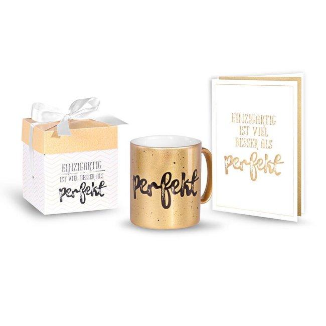 Geschenk-Sets mit Grußkarte und edler Tasse in Geschenk-Box