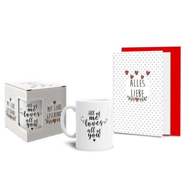 Geschenk-Sets Lieblingsmensch - Tasse mit Karte und Box