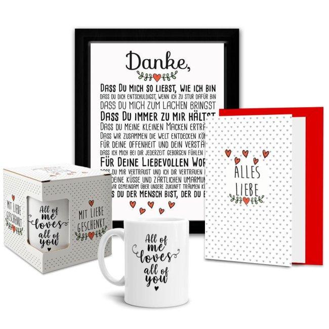 Geschenk-Sets Lieblingsmensch -  Tasse mit Karte und Tafel