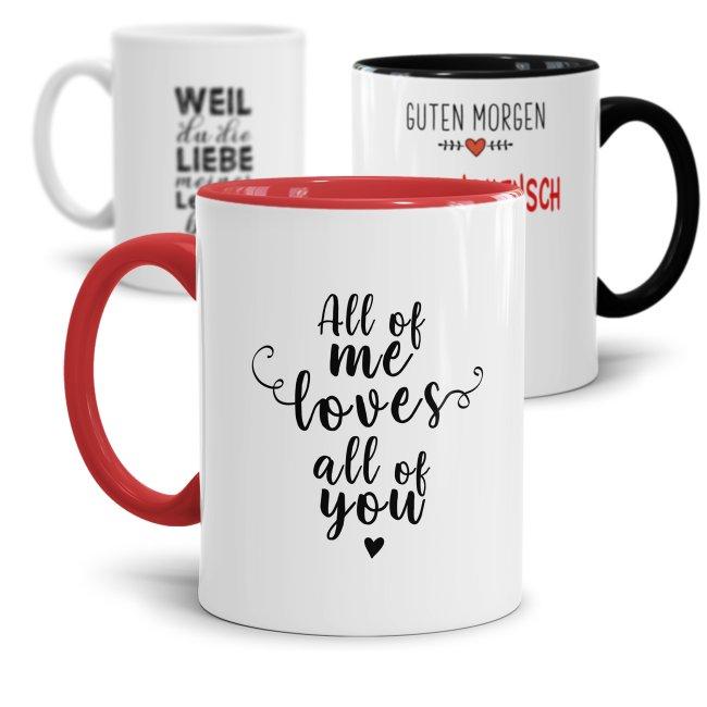 Tassen für Lieblingsmenschen mit schönen Sprüchen
