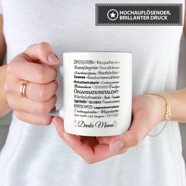 Tassen mit Spruch für Mama - Danke Mama