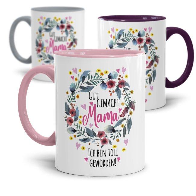 Tassen mit Spruch für Mama - Danke