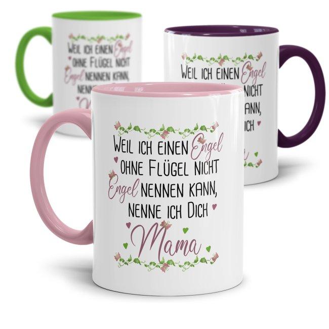 Tassen mit Spruch für Mama - Engel ohne Flügel