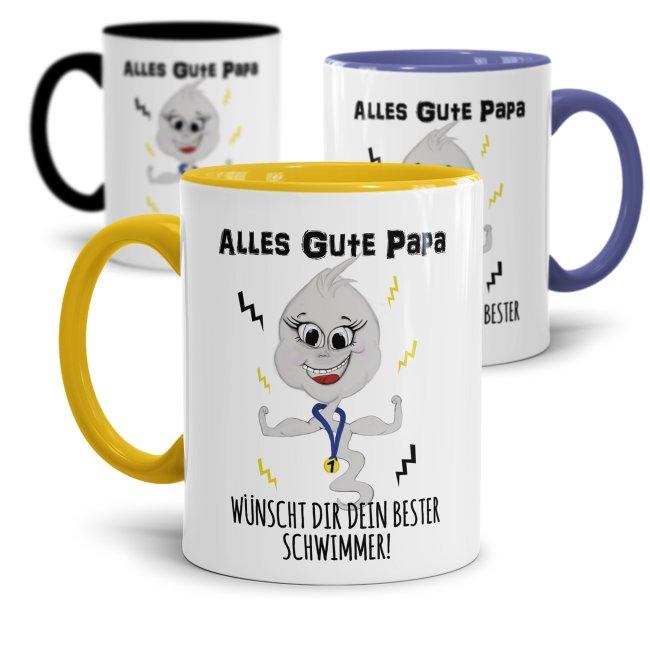 Lustige Tasse mit Spruch für Papa - Bester Schwimmer