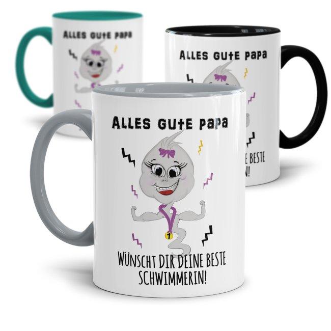 Lustige Tasse mit Spruch für Papa - Beste Schwimmerin