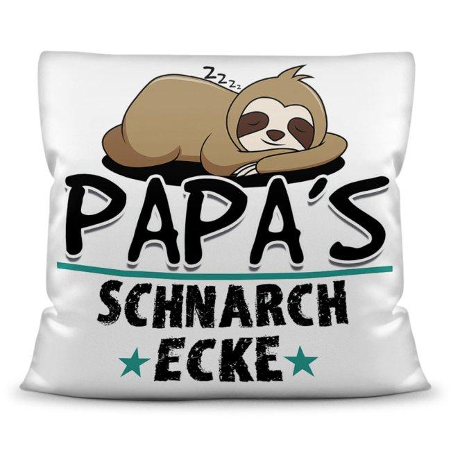 Kuschel-Kissen mit Spruch für Papa - Papas Schnarch-Ecke