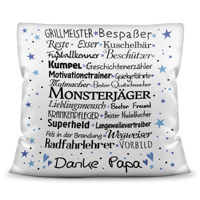 Kuschel-Kissen mit Spruch für Papa - Danke Papa