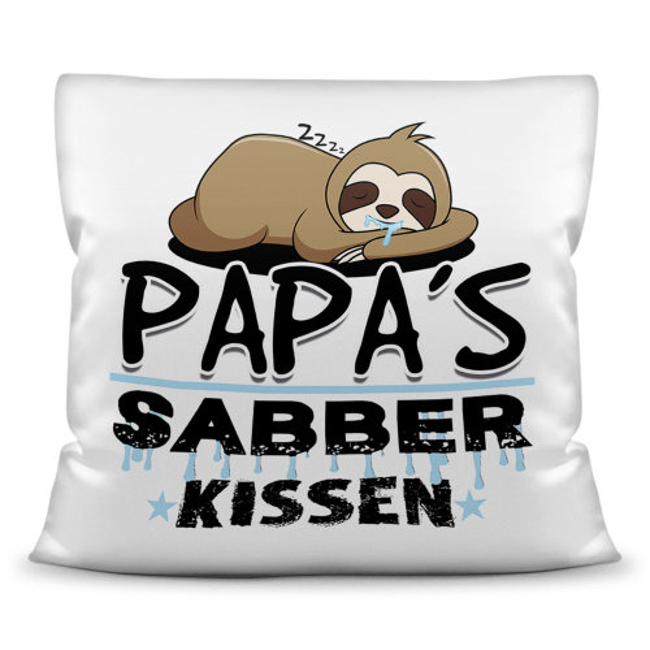 Kuschel-Kissen mit Spruch für Papa und Opa - Sabberkissen