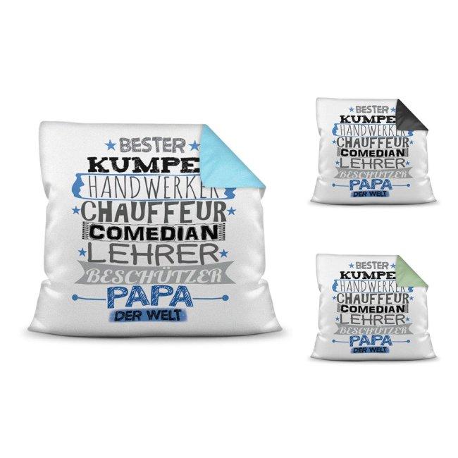 Kuschel-Kissen mit Spruch für Papa - Bester Papa