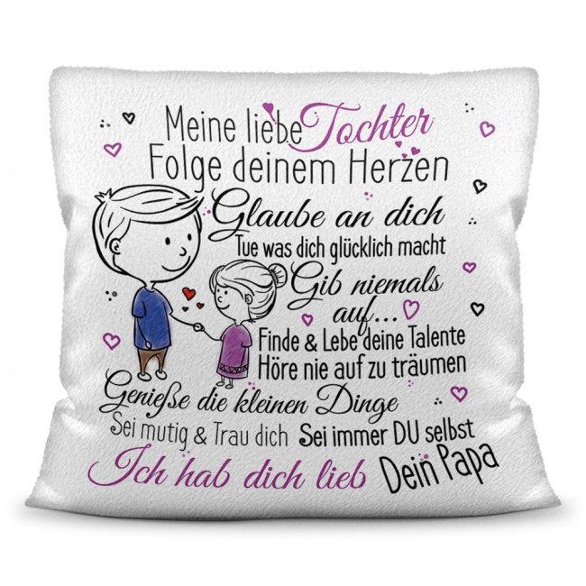 Kissen für Kinder - Von Papa für Sohn und Tochter